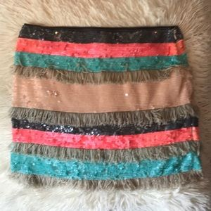 Multi Colored Zara Sequin Skirt